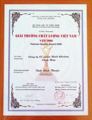 Vĩnh Hảo Chất lượng Việt Nam