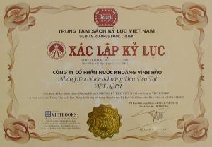 Vĩnh Hảo Nước khoáng đầu tiên Việt Nam