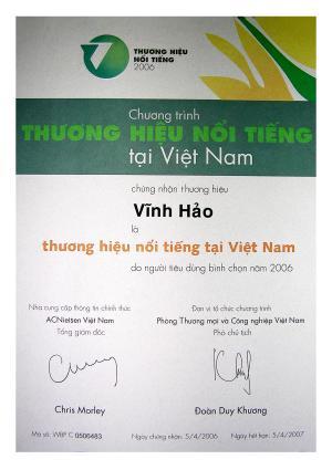 Vĩnh Hảo Thương Hiệu Nổi Tiếng Việt nam